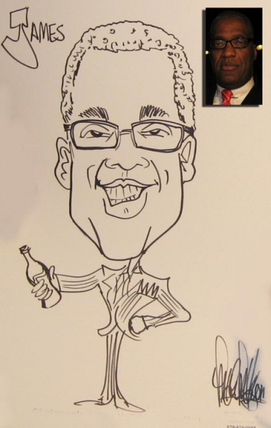 Mark Mandel Party Caricature