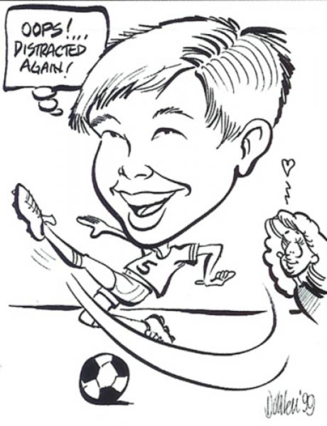 Party caricature by Greg Dohlen
