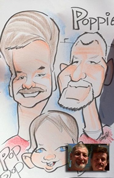 Chris Snee Party Caricature