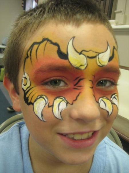 Face paint by Rosemary Kimble