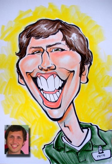 Rob Dumuhosky Party Caricature
