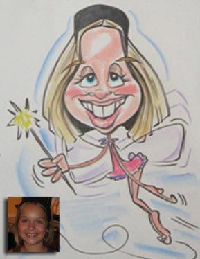 Angie Jordan Party Caricature