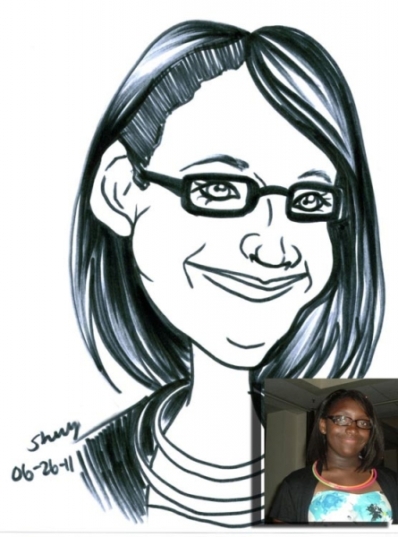 Sherry Leak Party Caricature