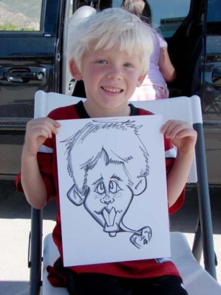 Party caricature by Doug Stout
