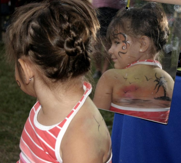 Face paint by Donna Shaner-Sternickle