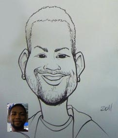 Sam Sutton Party Caricature
