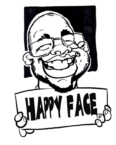 Steve Hartley Party Caricature