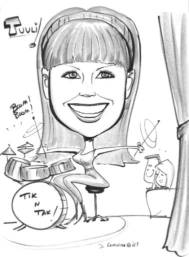David Concidine Party Caricature