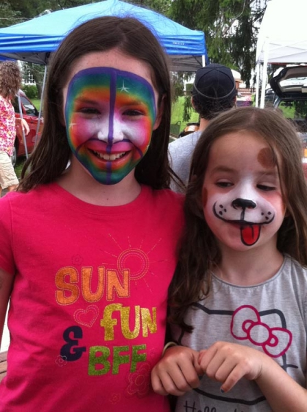Face paint by Julie Clapperton