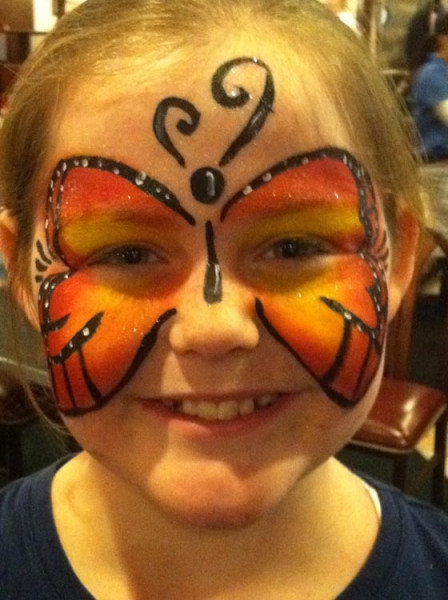 Face paint by Terri Mitchell