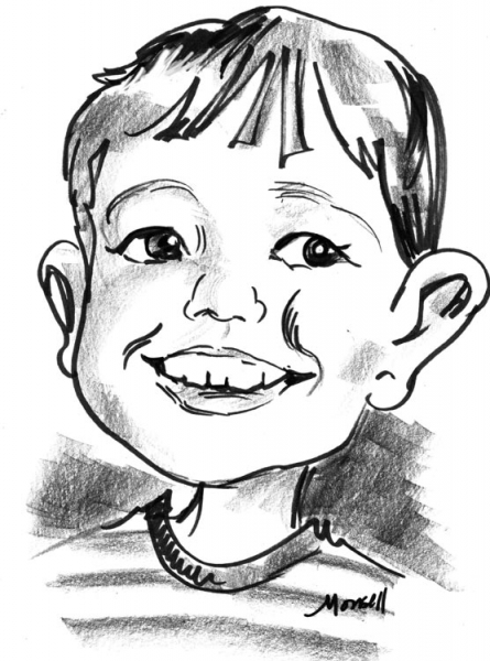 Ruth Monsell Party Caricature