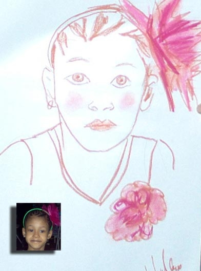 Melissa Wallace Party Caricature