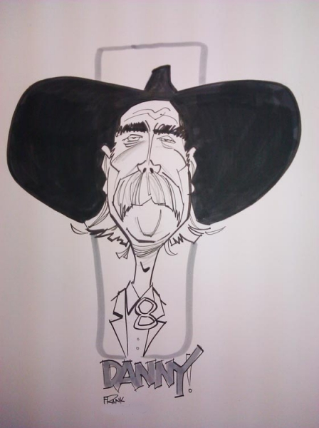 Frank Farrar Party Caricature