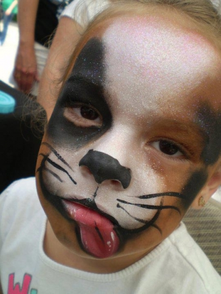Face paint by Gina Newsum