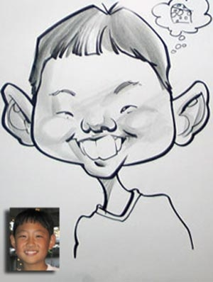 Court Jones Party Caricature