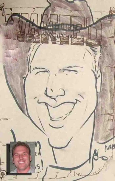 Neal Asher Party Caricature