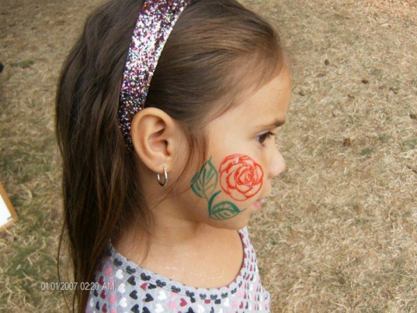 Face paint by Babara Tolbert