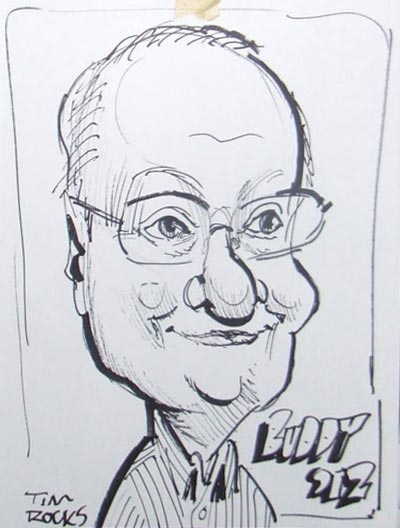 Tim Rocks Party Caricature