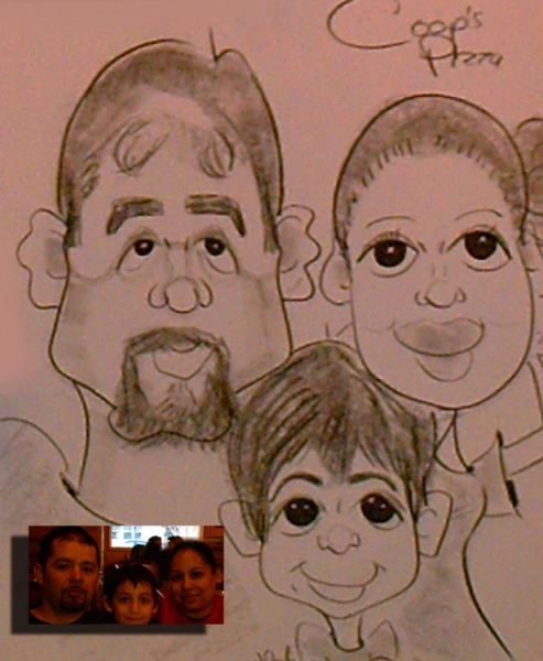 Melody Valenti Party Caricature