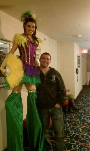 Stilt walker Gina DeFritas