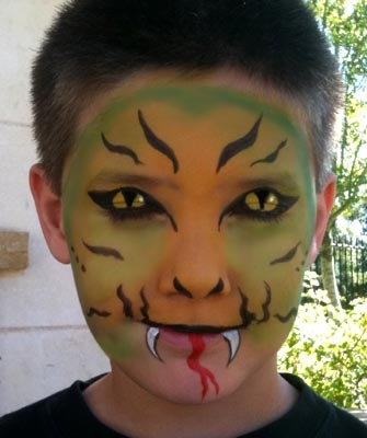 Face paint by Arvis Green