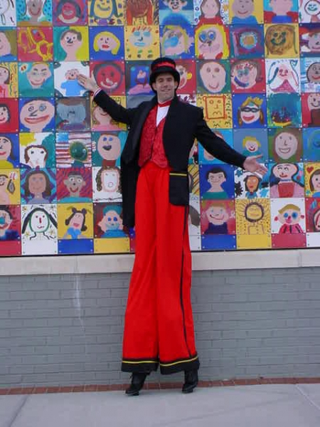 Lou Johnson Stilt Walker