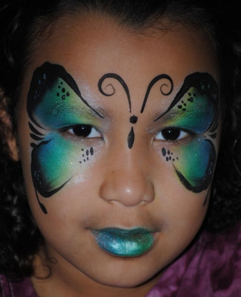 Face paint by Jeanette Benware