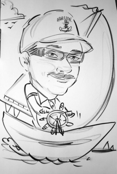 Brian Lofgren Party Caricature