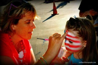 Face paint by Carolyn Hadin