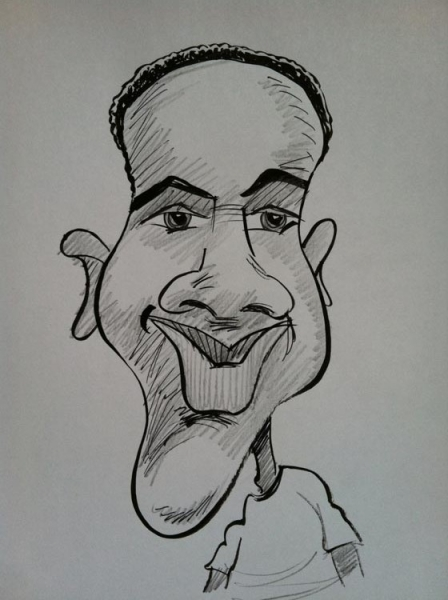Jim McCloskey Party Caricature