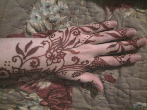 Henna tattoo by Eve Billings