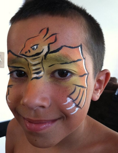 Face paint by Kelly Burrus