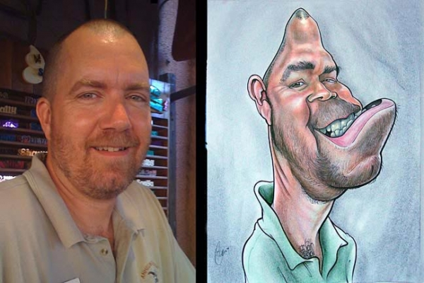 Sean Gardner Party Caricature