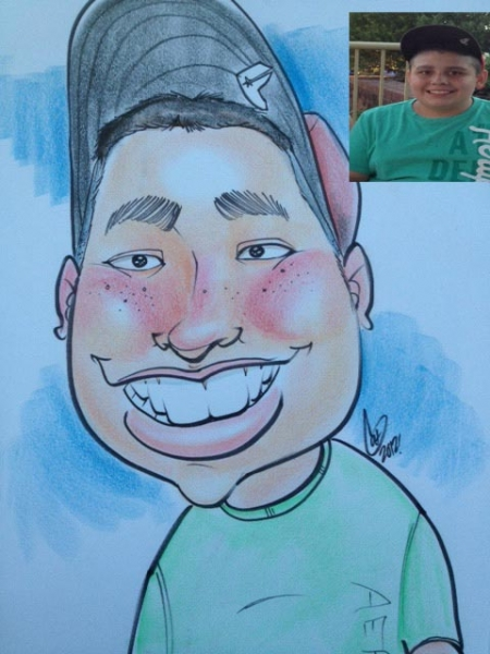 Cat Hupp Party Caricature