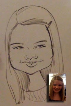 Katie Hoverson Party Caricature