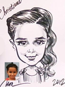 Noa Juarez Party Caricature