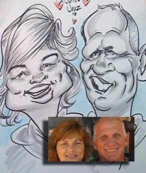 Ian Wing Party Caricature