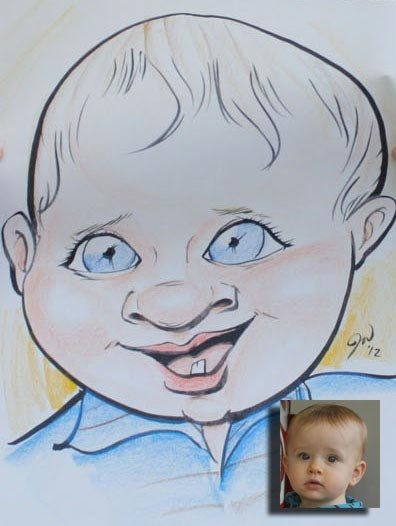Jillian Warren Party Caricature