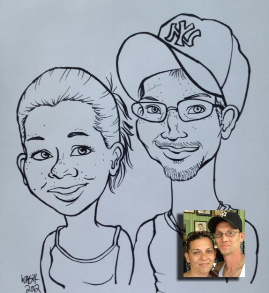 Kate Wasik Party Caricature