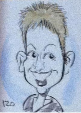 Kelly Gannon Party Caricature