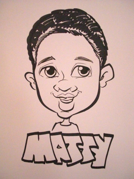 Jessica Du Preez Party Caricature
