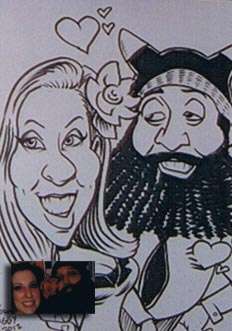 Miguel Aguilar Party Caricature