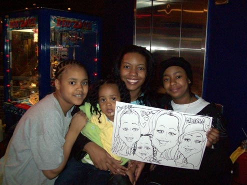 Tom Gluck Party Caricature