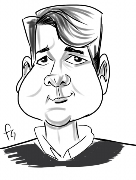 Fred Gonzalez Digital Party Caricature