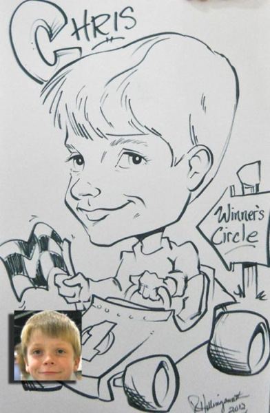 Robert Hollingsworth Party Caricature