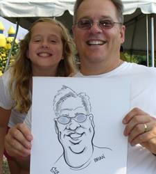 Bill LaRocque Party Caricature