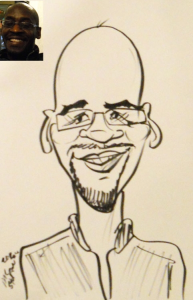 MC Sturman Party Caricature