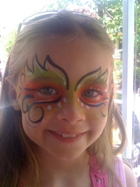 Face paint by Amy Williams