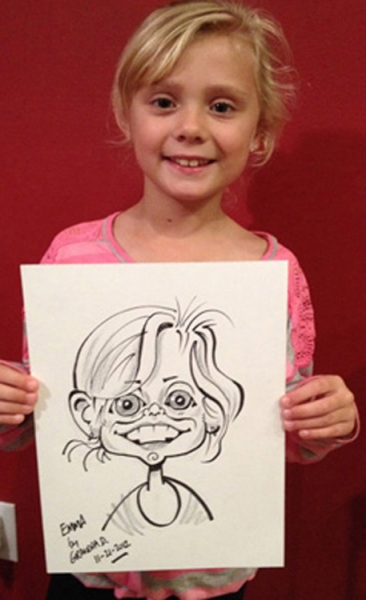 Jerry Dowling Party Caricature
