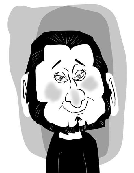 Adam Pate Digital Party Caricature